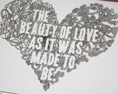 The Beauty of Love (Mumford and Sons lyrics)- Greeting Card