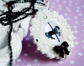Carousel Necklace - merry go round jewelry, gift for her