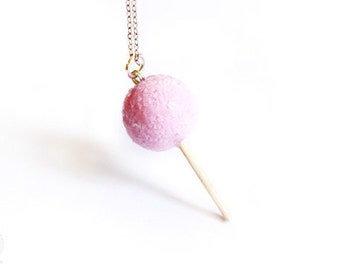 Sugar Lollipop Necklace - sweet handmade jewelry, gift for her