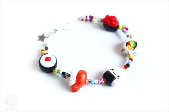 Sushi Bracelet - cute gift for her under 25 usd