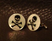 Skull and Bones Mother of pearl Cufflinks