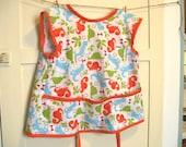 Dino Rawr kids craft smock/apron
