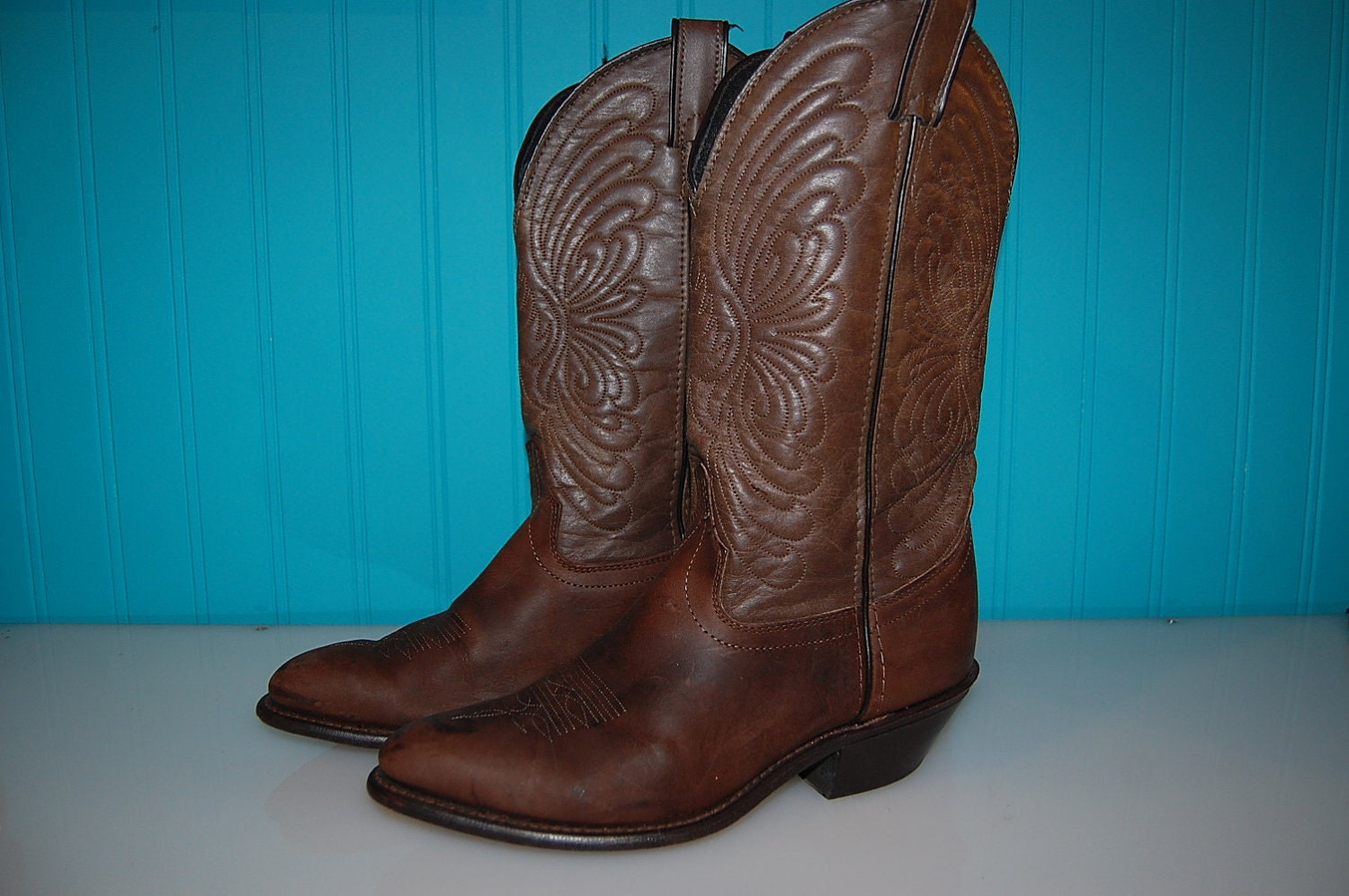 laredo brown leather cowboy boots western by