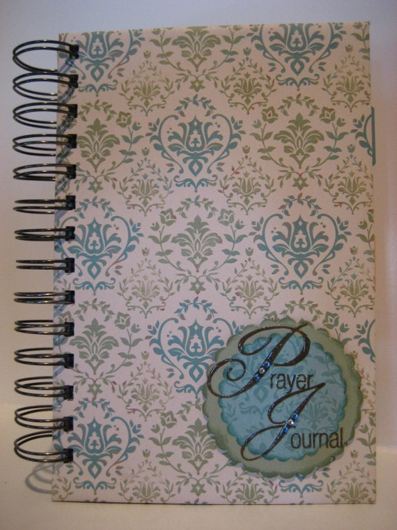 RESERVED for Sonya Beautiful Hand Made Prayer Journal with Hand Stamped Scriptures