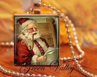 INSTANT DOWNLOAD Vintage Santa Claus Digital Collage Sheet Christmas Holidays Noel .75 x .873 Inch for Scrabble Tile Pendants Magnets (S68)