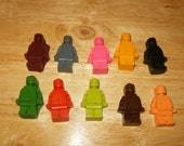 Building Block Man Crayons Recycled/Upcycled