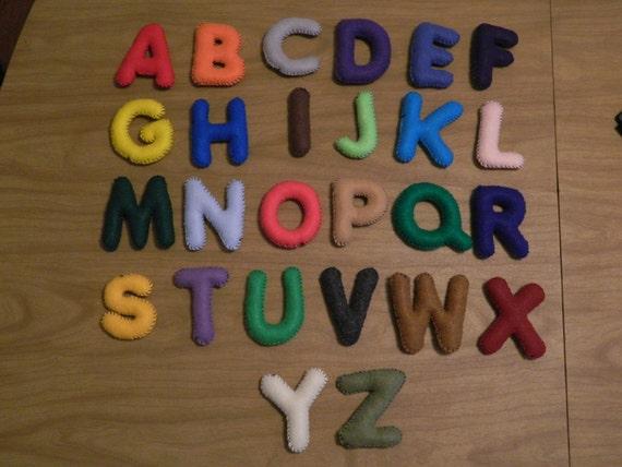Felt Alphabet With Storage Bag