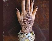 Woven Recycled Paper Bracelet, 'Sahara', Large