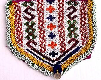 Vintage Beaded Textile: Kuchi Panel, Afghanistan, Large