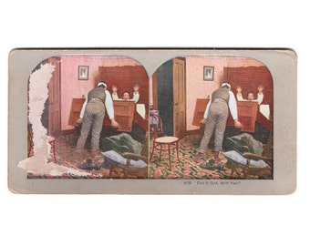 Vintage Stereograph Cards:  Set of Two- Funny, Set2