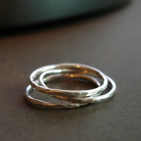 Slim Stacking Rings - Set of 3 - Made to Order in Your Size