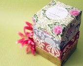 Four pack of soaps. 4 nicely wrapped  soap bars. Soap sale. 4 soaps at discounted price.