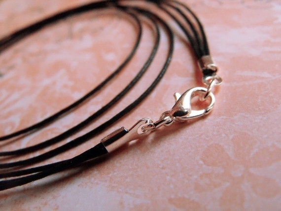 Custom Sized, Triple Strand Cord, Triple Strand Necklace, Pendant Cord, Cotton Cord