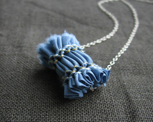 SALE - denim - fabric bead