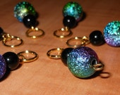 Foil Bead Stitch Markers set of 6