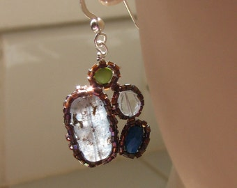 Beaded Gemstone Deco Earrings