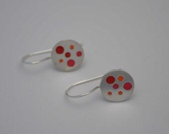 Pink and Orange Spot Earrings