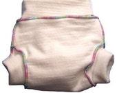 Organic Merino Wool Soaker Diaper Cover- xsmall In Natural