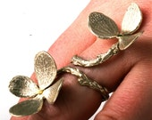 Amazing Green Silver with Diamonds Double Flower and Branch Ring Made by  zulasurfing