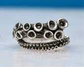 Octopus ring | sterling silver tentacle rings open shank design by Zulasurfing