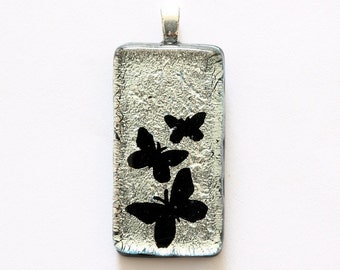 Beautiful Butterflies Dichroic Glass Pendant      Black Friday Sale