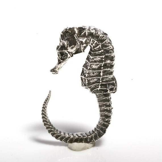 Limited Edition Sterling Silver Seahorse Ring size 5-6.5 by Zulasurfing   Gift