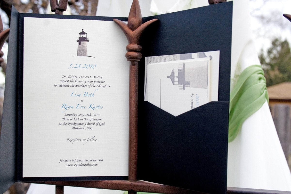lighthouse wedding invitation fabulous coastal wedding by With wedding invitations with lighthouse