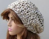 Cara Mia slouchy hat, hippie snood dread tam hat slouchy beanie cotton medley version 2