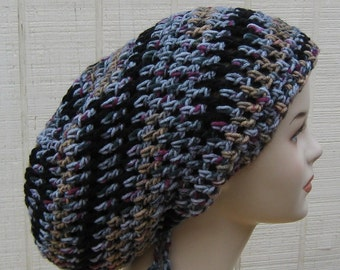 Slouchy beanie hat, Elements Dread Tam Slouchy Hippie Beanie Hat Handmade, slouch beanie hat, summer hat