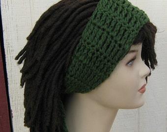 Thyme Green Dread headband dreadband head hair band wrap scarf hippie bandana