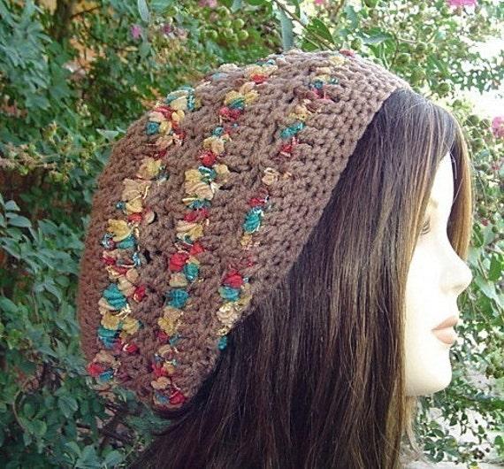 Cafe Ribbon tam slouchy beanie tam hippie smaller dread hat