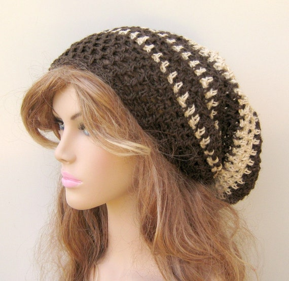 Slouchy beanie, Hemp Wool Tam Dread hat, Slouchy Beanie hat, Hippie Hat, Bohemian natural hat, Snood beanie, mandala hat, woman hat, man hat