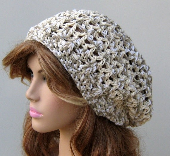 Cara Mia slouchy hat, hippie snood dread tam hat slouchy beanie cotton medley version 2