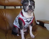 Dog Tshirt-Damask Print
