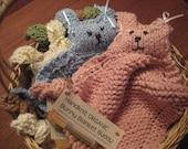 Organic Bunny Blanket Buddy - 11 Colours to Choose - SALE SALE SALE