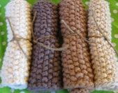 Organic Dish Cloth or Wash Cloth - 14 Colours to Choose - 5 Pack Special - SALE