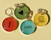 I (heart) yarn stitch markers