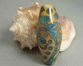 Lampwork Glass Focal Bead - Antique Scroll