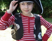 Child Pirate Vest - Skull Pirate Vest - Pirate Costume Accessory - Pirate Party - Child Size 3 to 5