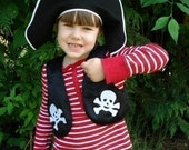 Black Child Pirate Vest