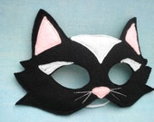 Black Cat Mask - herflyinghorses