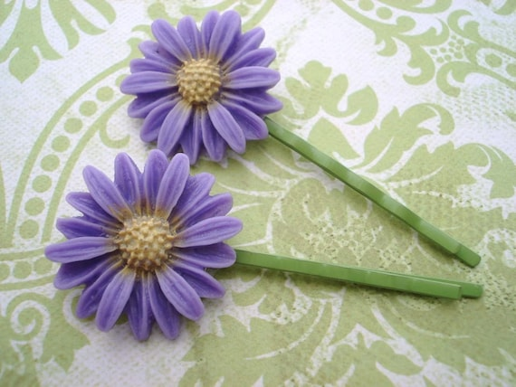 Daisy Hair Pins - Flower Hair Pins - Flower Hair Accessory - Flower Girl - Bobby Pin