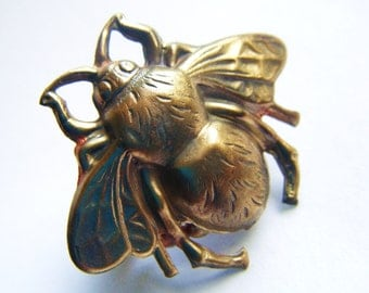 Statement Honey Bee Bumble Bee Ring -Romantic, Tattoo, Steampunk, Victorian Style
