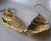 Hand Hammered Hand Cut Brass,  Leaves, Gold Leaf Earrings, Gift, Etsy, Etsy Jewelry, Leaf Earrings, Metalwork Earrings