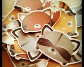 Cute Small Sticker Sack - Woodland Furry Animals