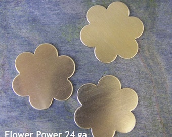 Daisy Shaped Brass Stamping Blanks for Charms, Tags or Embellishments