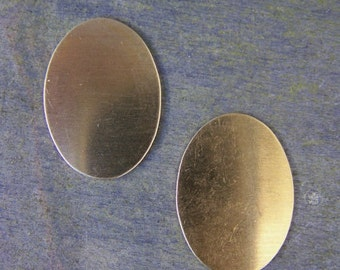 Medium Sized Oval Shaped Brass Stamping Blanks for Charms, Tags or Embellishments