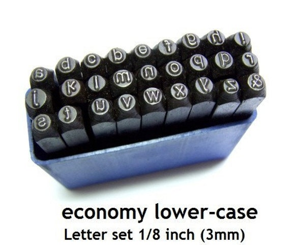 letter punch set on economy letter punch sets 1 8 inch 3mm lowercase 18718