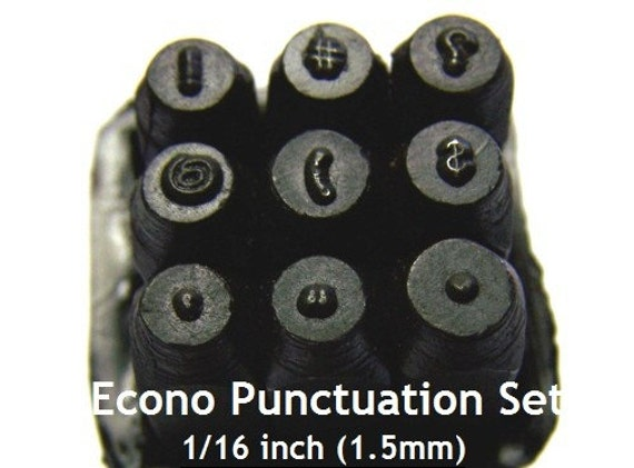 ECONOMY PUNCTUATION PUNCH Sets 1/16 inch 1.5mm