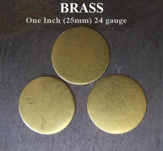 Pure Brass Round Discs 1.00 inch diameter Volume Pack